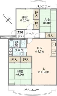 京成サンコーポ谷津B棟の間取図