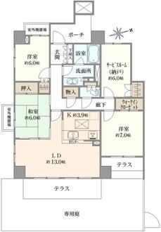 シティハウス津田沼東EASTTOWERの間取図