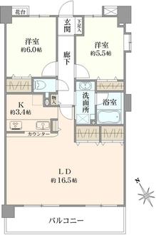 レクセルマンション船橋夏見台第ニの間取図