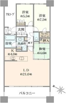 グランスイートブルー・ベイフロントタワーの間取図