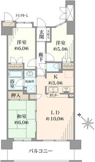 ハイホーム検見川浜の間取図