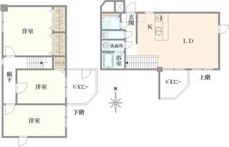 検見川パークマンションB棟の間取図