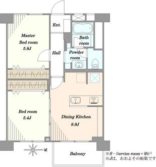 北砂4丁目住宅の間取図