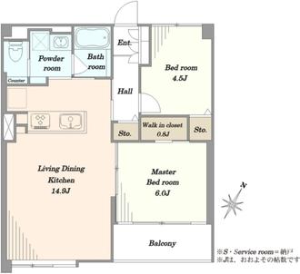 西片住宅の間取図