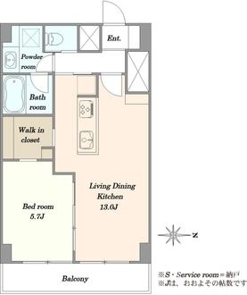 第27宮庭マンションの間取図