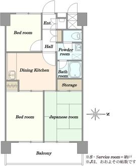 東陽町ハイホームA棟の間取図