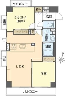 クレストフォルム桜台サウスステージの間取図