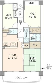 クリスタルハイム小竹向原の間取図