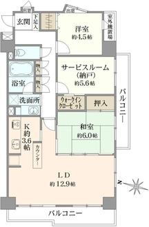 コスモ板橋本町シティフォルムの間取図
