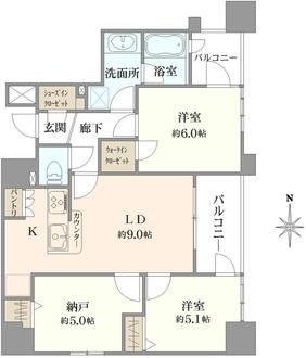 アドバンステージ田端三番館の間取図