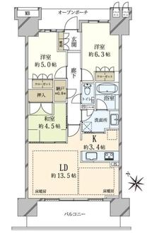 プラウドシティ池袋本町の間取図