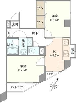 コスモ東長崎の間取図