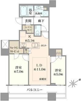 エアライズタワーの間取図