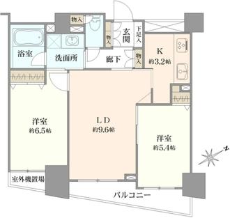 クリオタワー大塚台の間取図