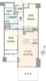 オープンレジデンシア駒沢の間取図