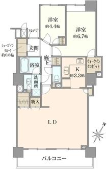 川口パークタワーの間取図