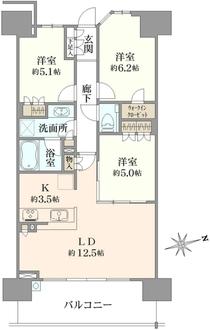 THE ITABASHIレジデンスノース棟の間取図
