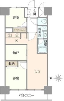 中板橋セントラルマンションの間取図