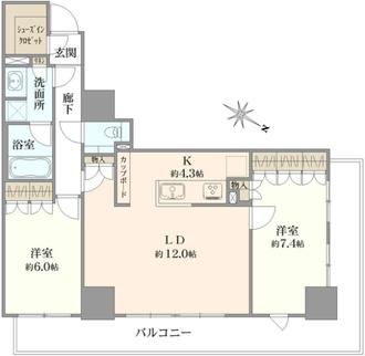 王子飛鳥山ザ・ファーストタワーレジデンスタワーの間取図