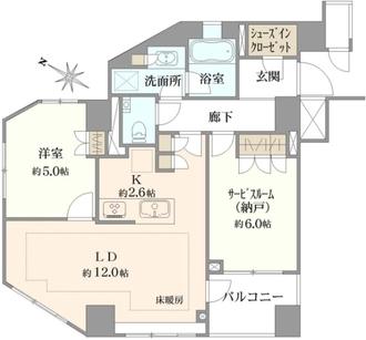 ディアナコート宮坂壇邸の間取図