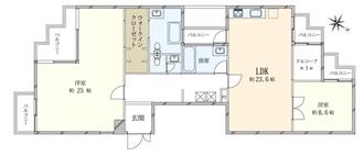 渋谷伊達町ハウスの間取図