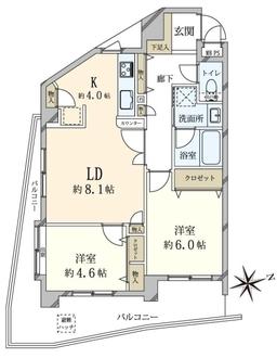 ライオンズステージ渋谷松見坂の間取図