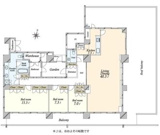深沢ハウス D棟の間取図
