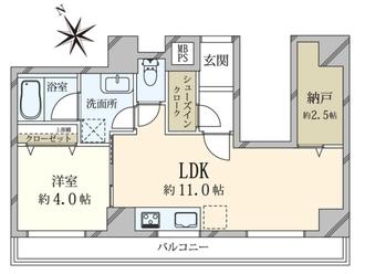 セブンスターマンション第二青葉台の間取図