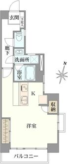 松見坂武蔵野マンションの間取図