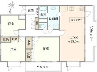 上野毛ガーデンハイツA棟の間取図