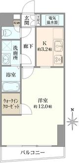 ビクセル新宿の間取図