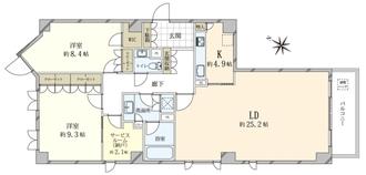 広尾ガーデンヒルズイーストヒルA棟の間取図