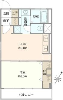 第2宮庭マンションの間取図