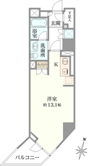 フィールA渋谷の間取図