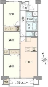 狛江ハイタウン2号棟の間取図