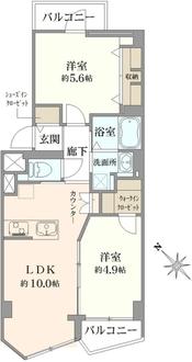四谷軒第5経堂シティコーポの間取図