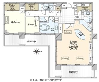 広尾ガーデンフォレスト 楓レジデンスC棟の間取図