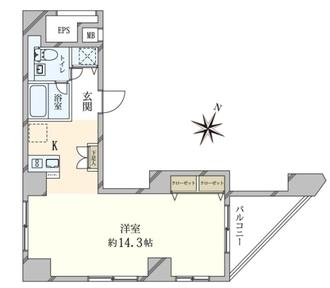 日神デュオステージ笹塚東館の間取図