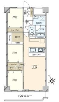 五反田ロイヤルハイツの間取図