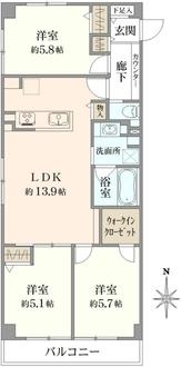 世田谷国際マンションの間取図