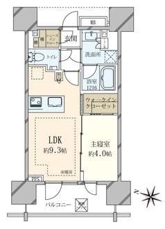 ピアース渋谷WESTの間取図