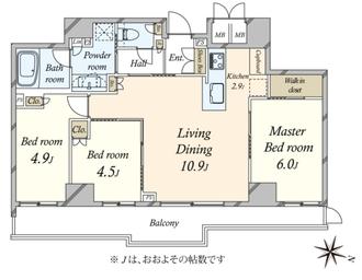 THEパームス渋谷常盤松の間取図