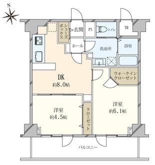 大京観光ライオンズマンション道玄坂の間取図