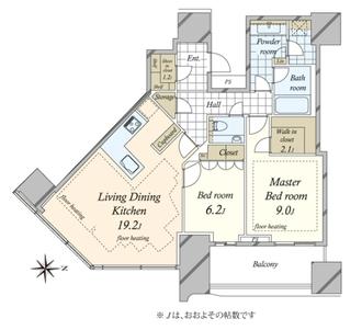 パークコート渋谷 ザタワーの間取図