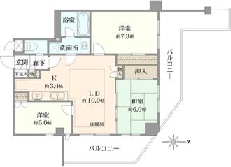ミオカステーロ長津田インテルノの間取図