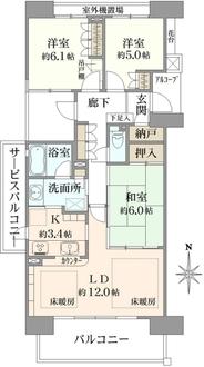 サウスフロンテージ町田参宮橋の間取図