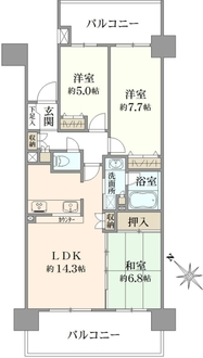 クリオ町田駅前の間取図