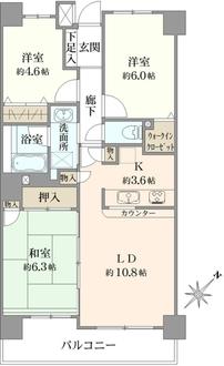 ネオマイム町田の間取図