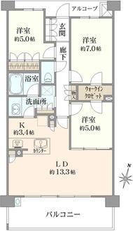 ヒルトップ横浜山手レジデンス フォレスト棟の間取図
