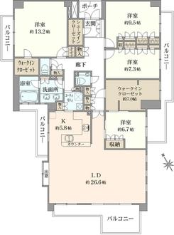 ジェイパーク横濱ヒルズの間取図